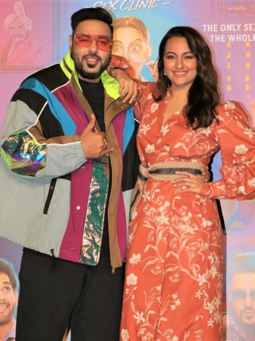 Sonakshi Sinha And Badshah At The Launch Of Song From Khandaani Shafakhana