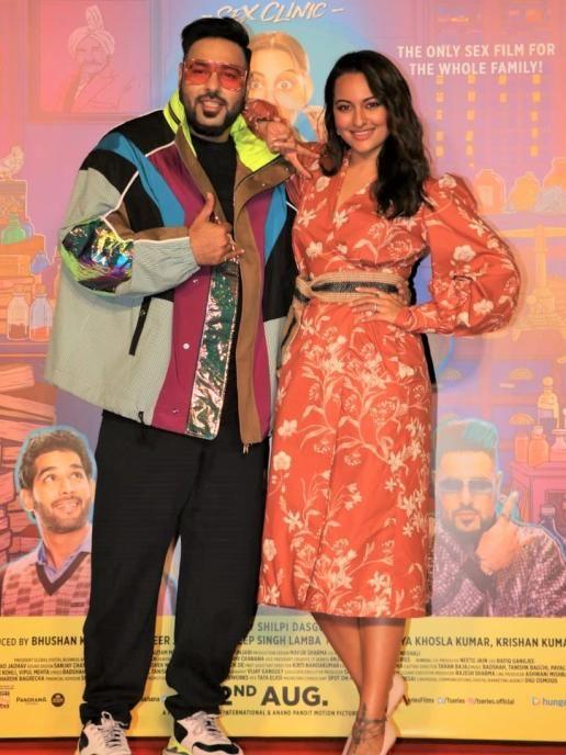 Sonakshi Sinha And Badshah At The Launch Of Song From Khandaani Shafakhana