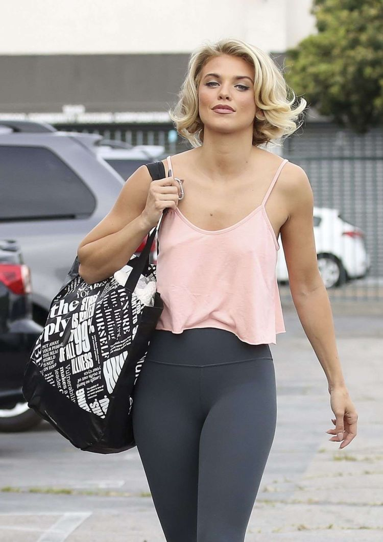 AnnaLynne McCord Candids In Tights Out In Los Angeles