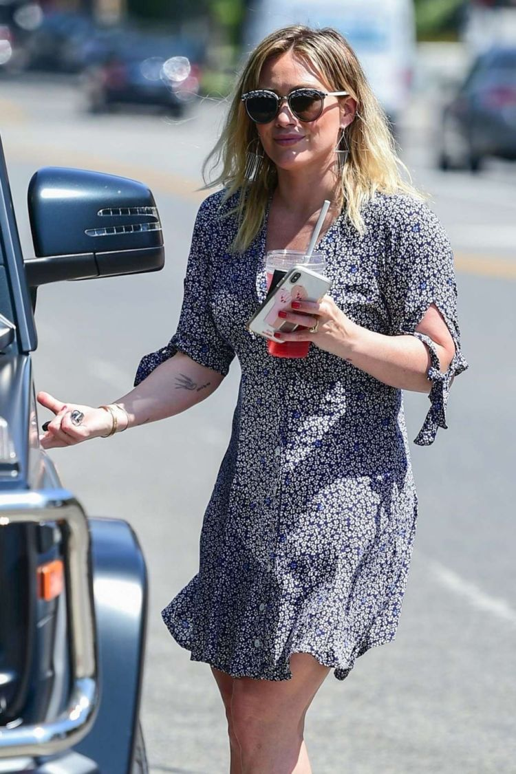Hilary Duff Candids In A Frock Out In Studio City