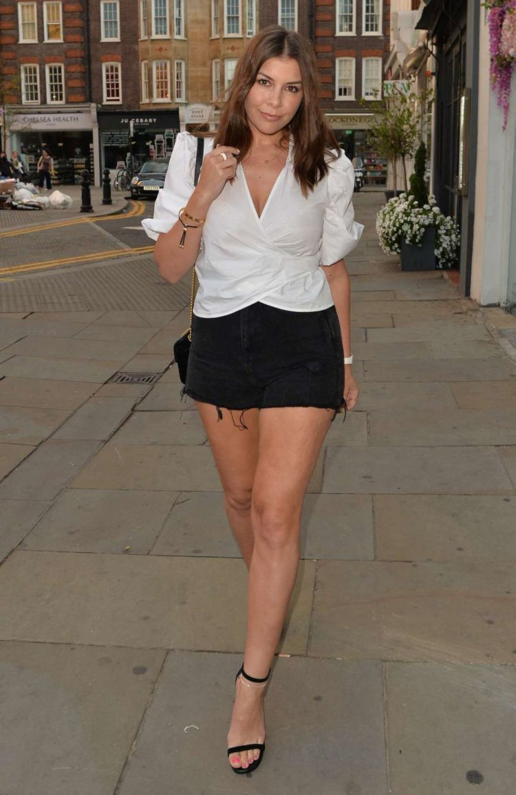 Imogen Thomas Candids In Shorts Out In Chelsea