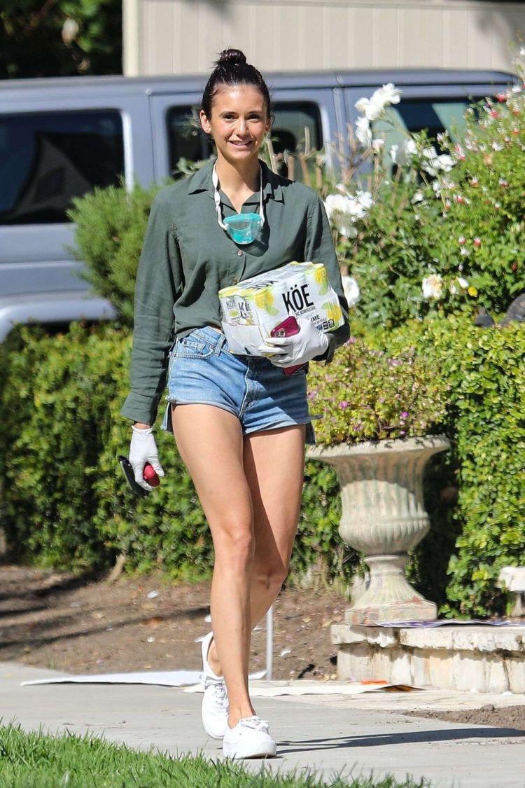 Nina Dobrev Heading For A House Party In Santa Monica