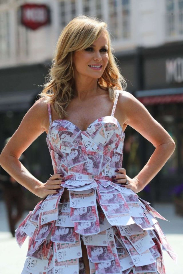 Amanda Holden Looks Precious In A Money Dress