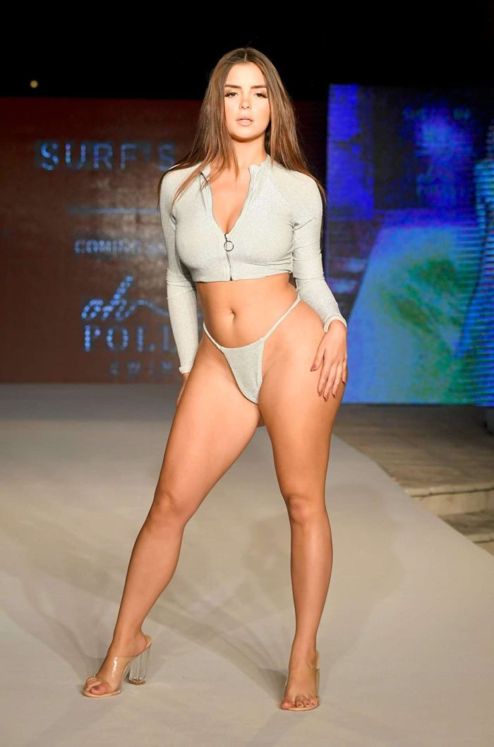Demi Rose Mawby Walks The Ramp At 'Oh Polly' Fashion Show In Miami