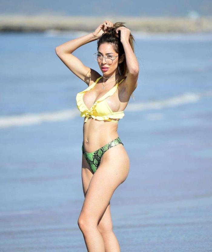 Farrah Abraham Poses For Pretty Little Thing Bikini Shoot At Malibu Beach