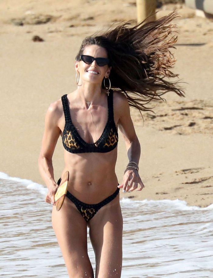 Izabel Goulart Enjoys Her Beach Vacation In Black Bikini In Mykonos